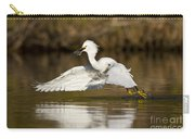 Snowy Egret With Lunch Carry-all Pouch
