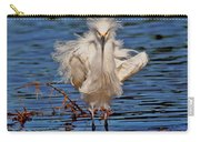 Snowy Egret With Yellow Feet Carry-all Pouch
