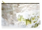 Snowy Evergreen Carry-all Pouch
