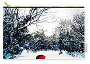 Snowy Forest At Christmas Time Carry-all Pouch