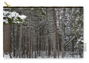 Snowy Forest In Acadia Carry-all Pouch