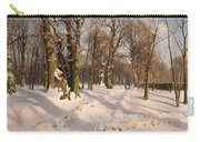 Snowy Forest Road 1908 Carry-all Pouch