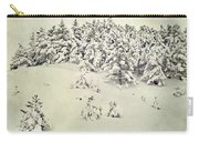 Snowy Forest Vintage Carry-all Pouch