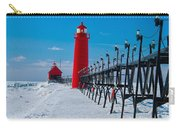 Snowy Grand Haven Pier Carry-all Pouch