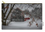 Snowy Grey And Red Carry-all Pouch