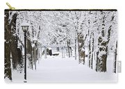 Snowy Lane In Winter Park Carry-all Pouch by Elena Elisseeva