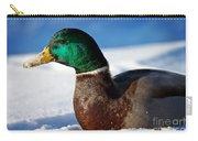 Snowy Mallard Carry-all Pouch