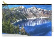Snowy Mountains Reflected In Crater Lake Carry-all Pouch