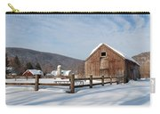 Snowy New England Barns Carry-all Pouch