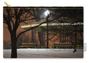 Snowy Night In Leone Riverside Park Carry-all Pouch