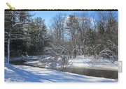 Snowy Otter Brook Carry-all Pouch