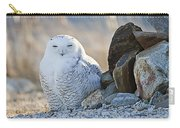 Snowy Owl Among The Rocks Carry-all Pouch