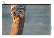 Snowy Owl At The Seashore Carry-all Pouch