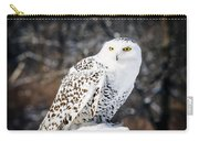 Snowy Owl Cold Stare Carry-all Pouch