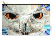Snowy Owl - Female - Close Up Carry-all Pouch by Daniel Janda
