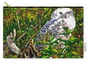 Snowy Owl In Salmonier Nature Park-nl Carry-all Pouch