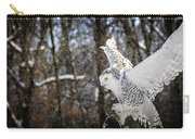 Snowy Owl Landing Carry-all Pouch