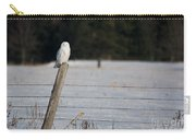 Snowy Owl Landscape Carry-all Pouch