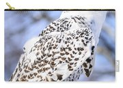 Snowy Owl Look Out Carry-all Pouch