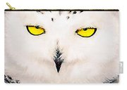 Artic Snowy Owl Painting Carry-all Pouch