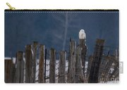 Snowy Owl On A Fence Carry-all Pouch