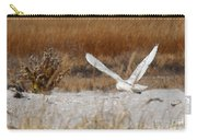 Snowy Owl On The Hunt Carry-all Pouch