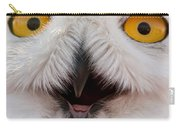 Snowy Owl Up Close And Personal Carry-all Pouch