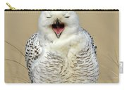 Snowy Owl Yawning Carry-all Pouch