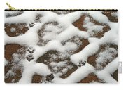 Snowy Path And Paw Prints Carry-all Pouch