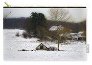 Snowy Pennsylvania Farm Carry-all Pouch