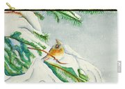 Snowy Pines And Cardinals Carry-all Pouch