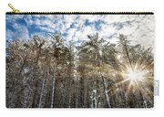 Snowy Pines With Sunflair Carry-all Pouch