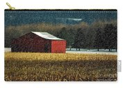Snowy Red Barn In Winter Carry-all Pouch