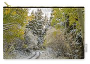 Snowy Road In Fall Carry-all Pouch