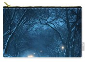 Snowy Road On A Winter Evening Carry-all Pouch
