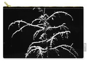 Snowy Sophistication - An Elegant Fledgling Carry-all Pouch