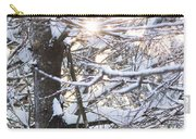 Snowy Sunbursts Carry-all Pouch