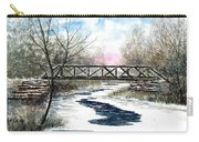 Snowy Train Bridge Carry-all Pouch