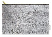 Snowy Trees In Winter Park Carry-all Pouch