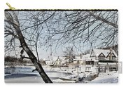 Snowy View Of Boathouserow Carry-all Pouch