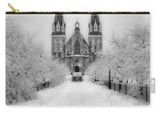 Snowy Villanova In Black And White Carry-all Pouch