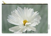 Snowy White Cosmos Carry-all Pouch