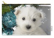 Snowy White Puppy Present Carry-all Pouch