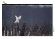 Snowy Wings Up Carry-all Pouch