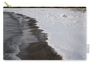 Snowy Winter Beach Patterns - Lake Ontario Toronto Canada Carry-all Pouch