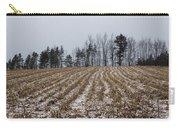 Snowy Winter Cornfields Carry-all Pouch