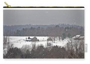 Snowy Winter Farmscape Carry-all Pouch