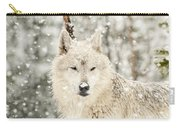 Snowy Wolf Carry-all Pouch