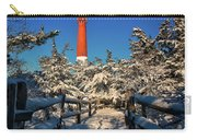 Snowy Woods At Barnegat Light Carry-all Pouch