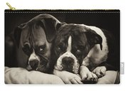 Snuggle Bug Boxer Dogs Carry-all Pouch by Stephanie McDowell